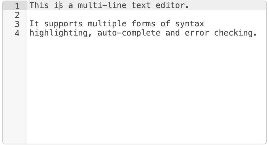 Multi-line Text Editor